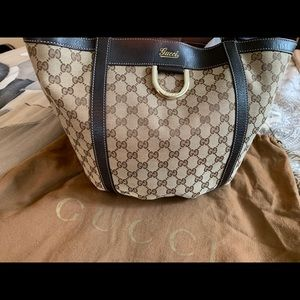Authentic Gucci Guccissima D-Ring Large Tote